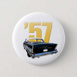 '57 Chevy Bel Aire Rear View Pinback Button