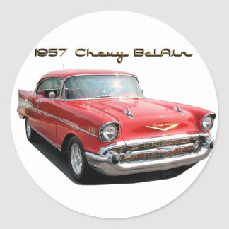 57 Chevy Belair sticker