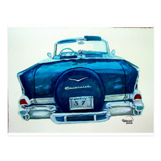 57 Chevy Belaire Postcard