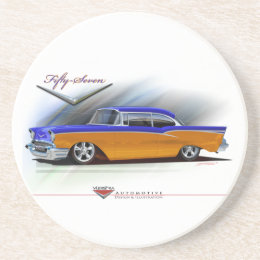 57-chevy drink coaster