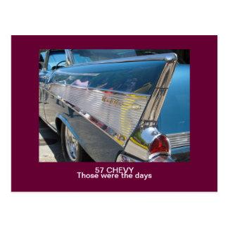 """57 CHEVY """"ésos eran postal de los días"""""""