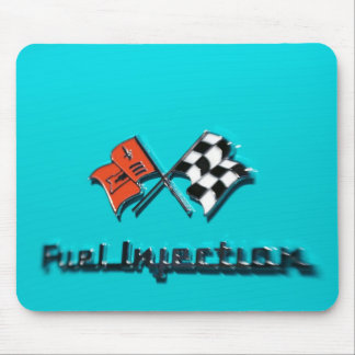 57 Chevy Fuel Injection Badge Mousepad