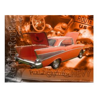 57 Chevy-Lake Scott Rod Run Series Postcard