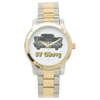 57 Chevy Two-Tone with Gold and Silver Tone Watch