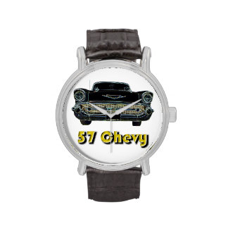 57 Chevy Vintage Leather Strap Watch