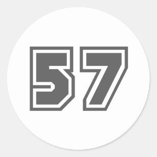 57 CLASSIC ROUND STICKER