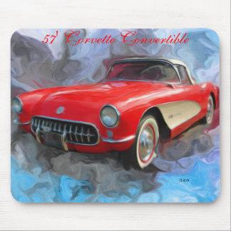 57' cojín de ratón convertible del Corvette Tapetes De Ratones
