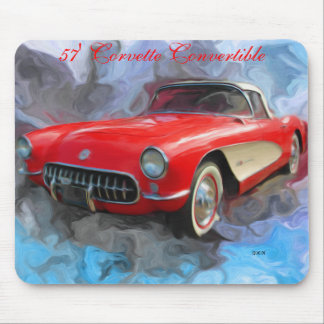 57' Corvette Convertible Mouse Pad