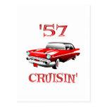 57 Crusin Car Postcard