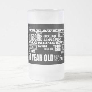 57.o Años más grandes de la fiesta de cumpleaños Jarra De Cerveza Esmerilada