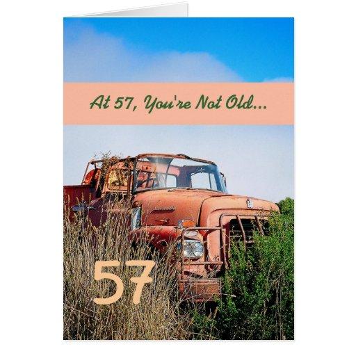 57.o cumpleaños feliz DIVERTIDO - camión del naran Felicitaciones