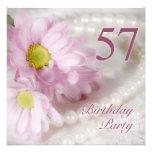 57.o Invitación de la fiesta de cumpleaños con las