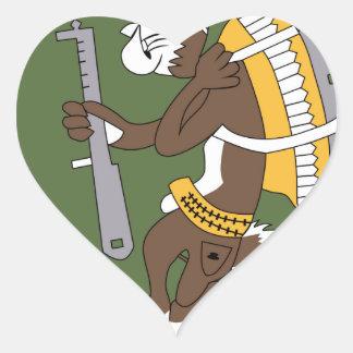 57.o Remiendo de la escuadrilla 3,5 del cargo del Pegatina En Forma De Corazón