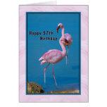 57.o Tarjeta de cumpleaños con el flamenco rosado