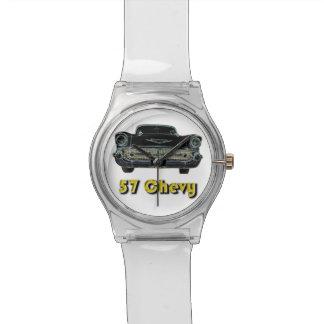 57 reloj de plata de Chevy May28th