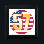 "57 USA Gold Keepsake Box<br><div class=""desc"">57th BIRTHDAY,  NUMBER 57</div>"