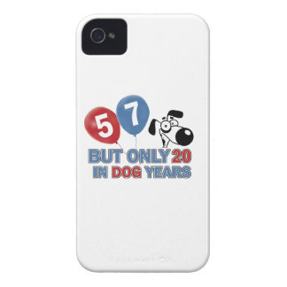 57 years Old birthday designs Case-Mate iPhone 4 Case