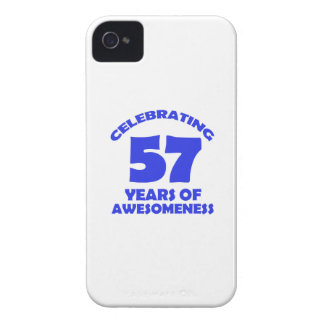 57 years old birthday designs iPhone 4 case