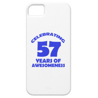 57 years old birthday designs iPhone SE/5/5s case