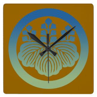 57kiri3 square wall clock