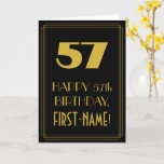 "[ Thumbnail: 57th Birthday – Art Deco Inspired Look ""57"" & Name Card ]"