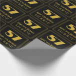 """[ Thumbnail: 57th Birthday – Art Deco Inspired Look """"57"""" & Name Wrapping Paper ]"""