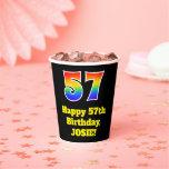 [ Thumbnail: 57th Birthday: Colorful, Fun, Exciting, Rainbow 57 ]