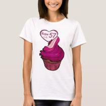 57th Birthday Cupcake T-shirts