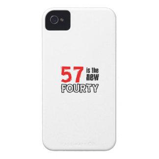 57th birthday designs Case-Mate iPhone 4 case
