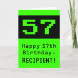 """[ Thumbnail: 57th Birthday: Nerdy / Geeky Style """"57"""" and Name Card ]"""