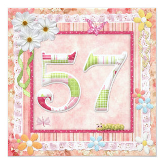 57th birthday party scrapbooking style card