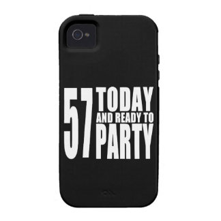 57th Birthdays Parties : 57 Today & Ready to Party iPhone 4/4S Cases