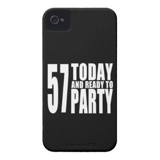 57th Birthdays Parties : 57 Today & Ready to Party iPhone 4 Cases