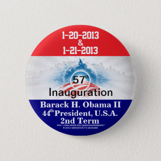 57th Inauguration President Barack H Obama II 2013 Button