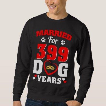 Wedding Themed 57th Wedding Anniversary T-Shirt For Dog Lover.