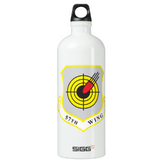 57th Wing Nellis Air Force Base Shield Water Bottle