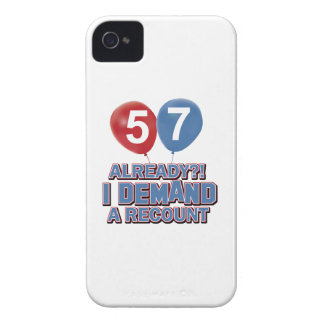 57th year birthday designs iPhone 4 covers