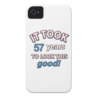 57th year birthday designs iPhone 4 case
