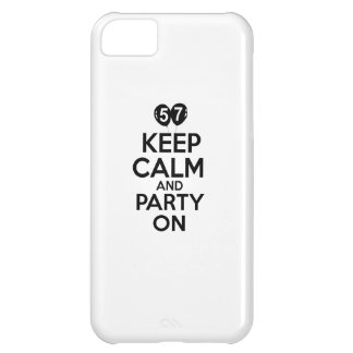 57th year birthday designs iPhone 5C covers