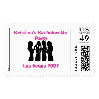 58192, Party Girls Bachelorette Party Las Vegas 20 Postage Stamps