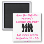 58192, Save the Date for Kristina's Bachelorette ( 2 Inch Square Magnet