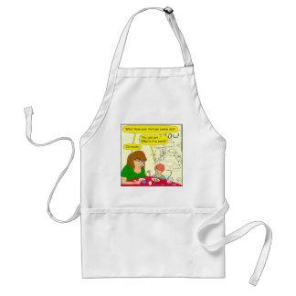 581 illiterate cartoon adult apron