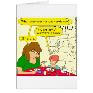 581 illiterate cartoon card