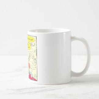 581 illiterate cartoon classic white coffee mug