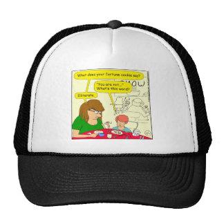 581 illiterate cartoon trucker hat