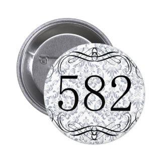 582 Area Code Pinback Button