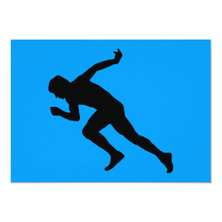 5849 RUNNING MARATHON MAN RUNNER SPORTS COMPETITIO 5X7 PAPER INVITATION CARD