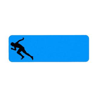 5849 RUNNING MARATHON MAN RUNNER SPORTS COMPETITIO RETURN ADDRESS LABEL