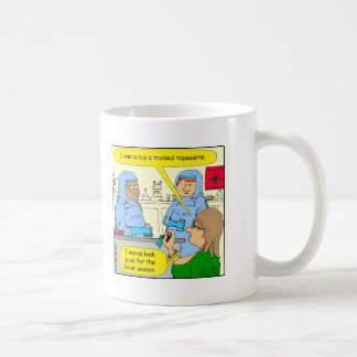 584 trained tapeworm weight loss cartoon classic white coffee mug