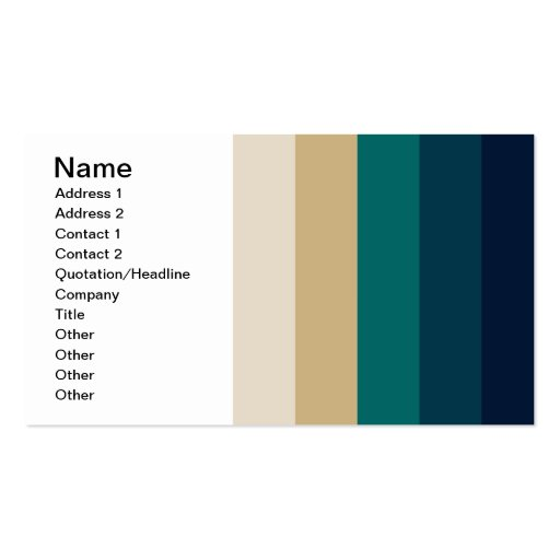 586_cave-palette BLUES TURQUOISE TAN WHITE NAVY ST Business Card